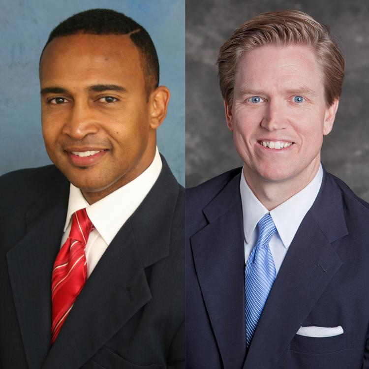 Democrat Patrick Cannon (left) will face Edwin Peacock, a Republican, in the race for Charlotte mayor.