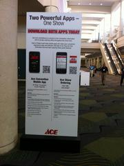 Retailers had the power of purchasing at their fingertips with the Ace Show Ordering app. The app allowed retailers to scan a product barcode, enter the quantity and make a purchase instantly at the Ace Hardware fall convention.