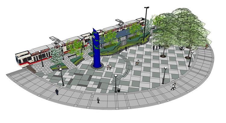 Construction on the new Beaverton outdoor plaza known as the Round is underway.