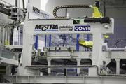Goya Foods has a specially made palletizing system in place at its factory.