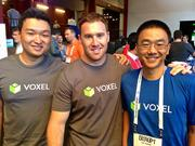 The team at Mountain View-based Voxel makes mobile apps run in the cloud instantly on any device. Shown are CEO David Zhao, COO Zachary Smith and CTO Tim Cheng.