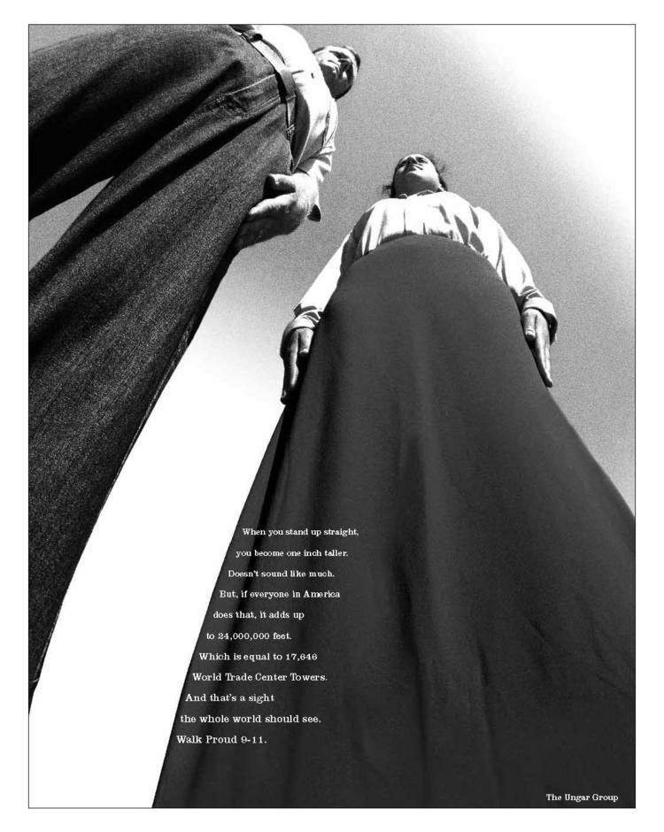 The Ungar Group/Chicago's tribute ad on the 12th anniversary of 9/11.