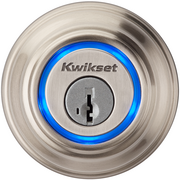 This is the UniKey lock, which unlocks when it detects the owner's smartphone nearby.