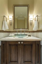One of five-and-a-half bathrooms in the home.