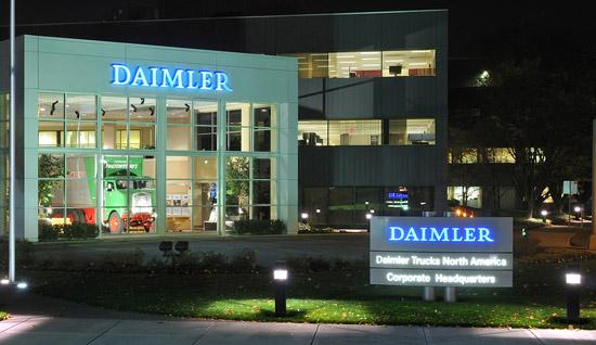 Daimler may be prepping to consolidate its North American HQ in Portland, but it's already assimilated to the city's green culture.
