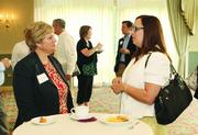 Renee DeMichiei Farrow, left, of the Pittsburgh Athletic Association, and Ann Wagner of PSI Inc.