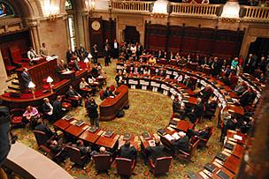 The New York State Senate voted 43-18 in favor of gun control.