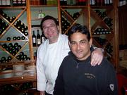 "French chef (left) Philippe Chin and owner Ron Farber at 28 Tables in Saratoga Springs. The fine dining restaurant is one of Billy Fuccillo's favorites when he's in town for the meet at Saratoga Race Course. ""I take everybody out whether I win or not,"" he says. Fuccillo also frequents Villa Balsamo when entertaining guests, and Pennell's when he's dining alone."