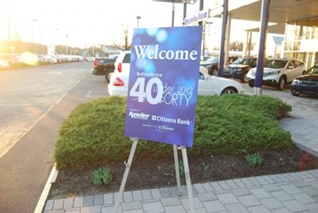 The Business Review's VIP reception for the 40 Under Forty class of 2012 was held at Keeler Motor Car Company.
