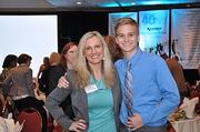 2012 winner Melanie Madden, director of marketing and publicity for JR Sports Enterprises, poses with her son Liam Madden.