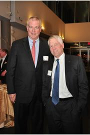 John Murray, left, president and CEO of Rose & Kiernan, and Karl Johnson, senior vice president at Pioneer Bank.