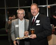 Roger Hannay, left, president and CEO of Hannay Reels, with Dean Rueckert,  president of Rueckert Advertising.