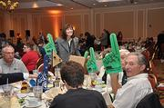 The Community Resource Federal Credit Union table. The Latham institution was a 10-25 employee group winner.