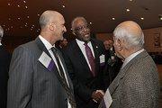 Fardin Sanai of the University at Albany Foundation; Robert Jones, president of UAlbany and Dr. Anthony Tartaglia