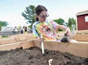 Emily Schoenblum in the teaching garden.Fast fact: The Bethlehem school district spent $17,495 per pupil in the 2010-11 year.