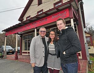 Shirley's Cafe: Jean-Pierre Lareau, left, Stephanie Ho-Tran and Alexei Lareau. The cafe will open Nov. 20 in the former Jonesville Store