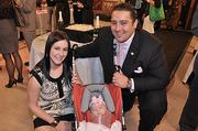 Carolyn Purnomo and husband Dominick Purnomo with daughter, Gemma, born Oct. 24, 2012.