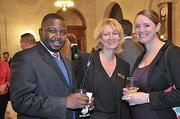 Kevin Johnson, Holly Brown and Maureen Neufelt from Albany's Palace Theatre.