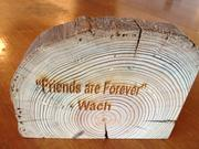Mike Wacholder's gift to attendees at his retirement party. The wood was sliced from a beam that was part of a 200-year-old barn he had renovated on the Rensselaer Technology Park campus in North Greenbush, just across the Hudson River from Albany, New York.