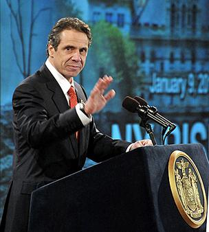 Gov. Andrew Cuomo's popularity has fallen due to the gun-control law in New York.