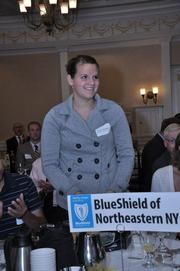 Nicole Welcome, a student at Lansingburgh High School, is the winner of the BlueShield of NENY scholarship, announced Thursday during The Business Review's education power breakfast.