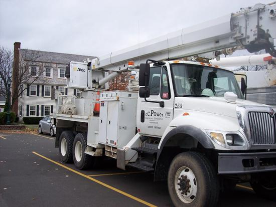 Utilities from as far away at Colorado, Michigan and Wisconsin are stationed at the Desmond, waiting to respond when Hurricane Sandy hits the area.