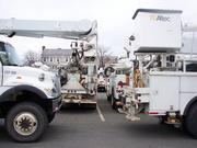 National Grid said the it has hundreds of line and tree crews in the area in response to Hurricane Sandy.