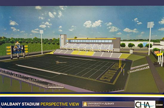 A rendering of the planned UAlbany sports complex.