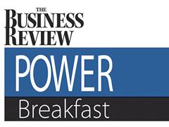 The latest Power Breakfast is underway now at the Hilton Garden Inn in Clifton Park, New York.