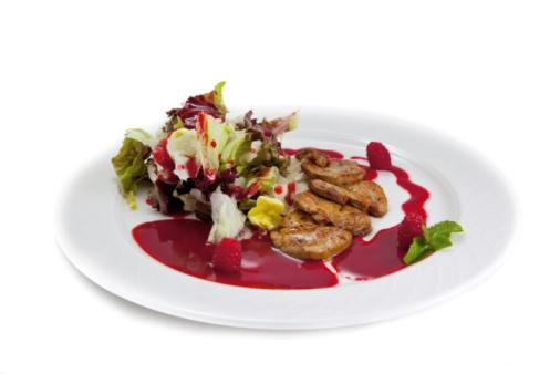 A salad plate with foie gras. California will ban the tasty delicacy on Sunday.
