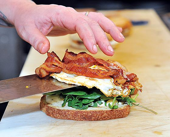 The breakfast BLT at the Hungry Fish Cafe in Troy, N.Y.