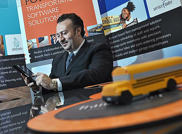 Antonio Civitella, president and CEO of Transfinder Corp., says the demand for his company's services increases as school districts look for ways  to save money.