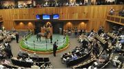 The first day of the Fasig-Tipton Saratoga Yearling sales drew a packed house of racing fans, trainers and thoroughbred buyers, generating $16.2 million in sales, up $1.4 million from last year.