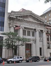 The plan is to turn the former KeyBank branch at 60 State St. in downtown Albany, New York, into a 270-seat banquet hall. An attached building in the rear of the bank will have 14 new apartments.
