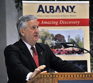 Albany Mayor Jerry Jennings during his annual State of the City speech.