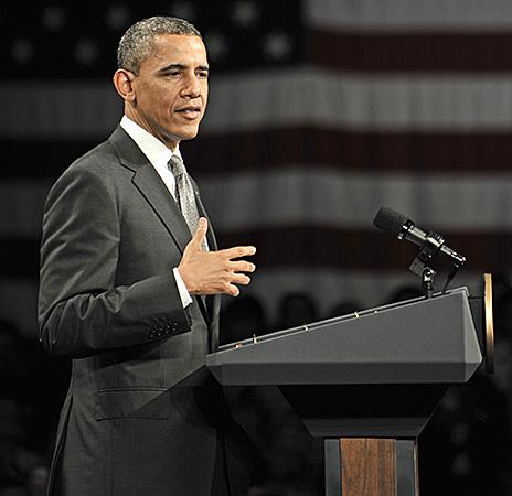 President Barack Obama says strengthening the middle class is his top priority.