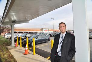 Joe Berman, manager of sustainability at The Golub Corp., said the electric vehicle charging station opening soon at the Price Chopper in Niskayuna will be the first in a network of stations at the supermarket chain.