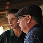 Coach Rick Pitino is a familiar face at Saratoga Race Course. Earlier this week, The Business Review caught up with him as he watched his horse Ry Bread on a one-minute training run.