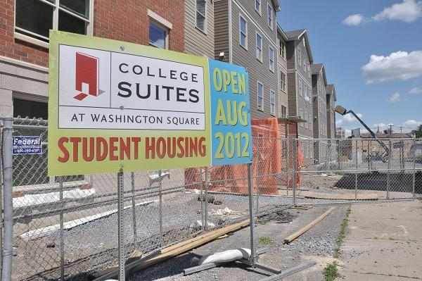 Schenectady County Community College is building 264 rooms of student housing. The residence hall is being built by Troy-based United Group of Cos.