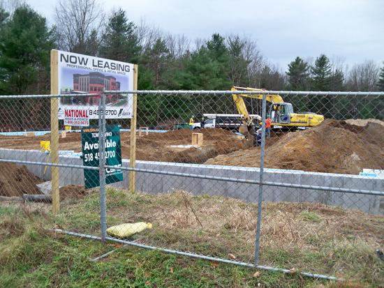 Work on the Bluth Building in Malta has begun. The building will  be on Route 9, in Malta, New York.