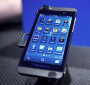 Samsung has been taking jabs at the new BlackBerry Z10 in its advertising.