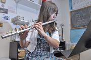 Katie Smith practices the flute at Shaker Junior High School. The school is part of the North Colonie Central School District which ranks No. 4 in the region.