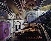 A view of the balcony inside the former Proctor's Theater in Troy, New York.