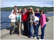 CMJ LLP employees spending time at Lake George.