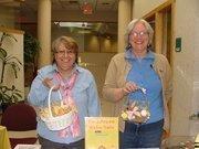 Yvonne Vickery, left, and Carole Tomaszewski at the Community Resource Federal Credit Union bake sale.