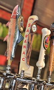 The eight craft beer brands include Davidson Bros. Brown Ale, Saranac White IPA and Lake Placid Ubu Ale.    Beer prices vary by brand, and size.