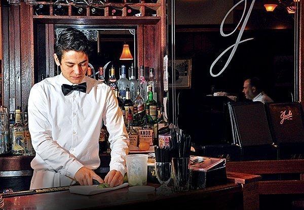 Jack's Oyster House, server Ken Ji.