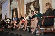 The Panel (from right to left): Heather Briccetti, Kathleen Brodbeck, Tenee Casaccio, Barbara Hess, Annmarie Lanesey, Trish Rost and moderator Trudy Hall.