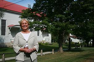 Nancy Wolf, head of the Darrow School in Columbia County, New York.