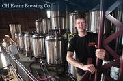 Ryan Demler, brewer at CH Evans Brewing Co. in Albany.